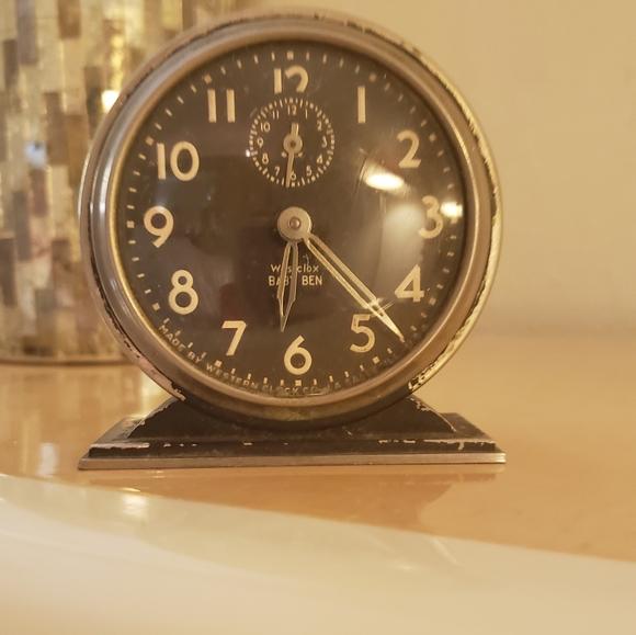 """wescox Other - Antique """"Wescox Baby Ben"""" Wind Up Clock"""